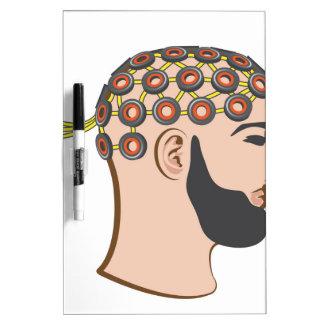 Brain EEG electrodes Bearded Man vector Dry-Erase Board