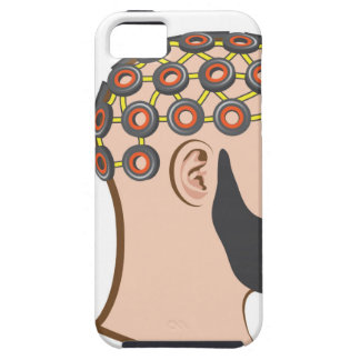 Brain EEG electrodes Bearded Man vector iPhone SE/5/5s Case