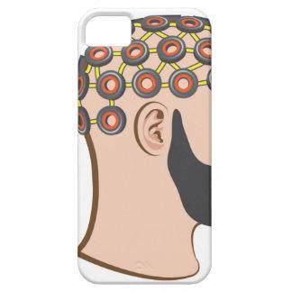 Brain EEG electrodes Bearded Man vector iPhone SE/5/5s Case