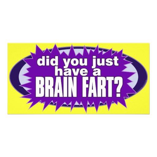 Brain Fart Post Card Photo Greeting Card