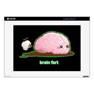 "Brain Fart Decal For 15"" Laptop"