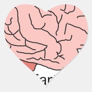 Brain Fart Heart Sticker