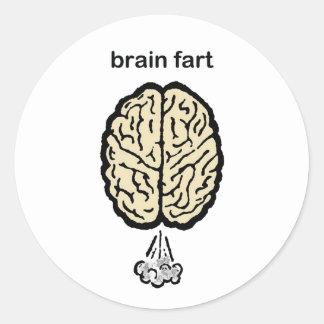 Brain Fart Classic Round Sticker