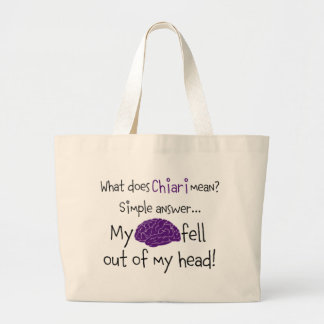 Brain fell out tote bag