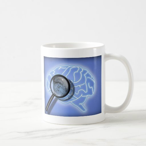 Brain fingerprint coffee mug