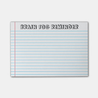Brain Fog Post-It Notes