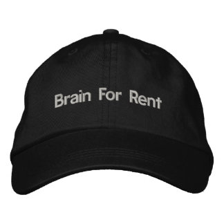 Brain For Rent Hat Embroidered Hat
