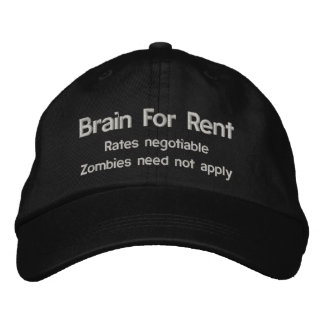 Brain For Rent Zombie Disclaimer Hat