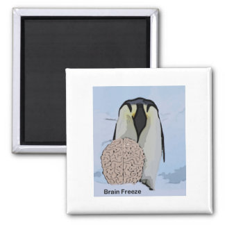 Brain Freeze 2 2 Inch Square Magnet