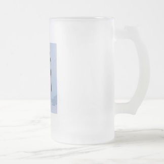 Brain Freeze 2 16 Oz Frosted Glass Beer Mug