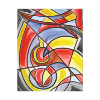 Brain Freeze-Abstract Art Hand Painted Canvas Print