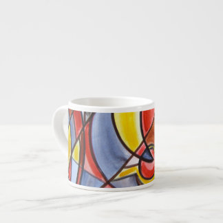 Brain Freeze - Abstract Art Handpainted Espresso Cup
