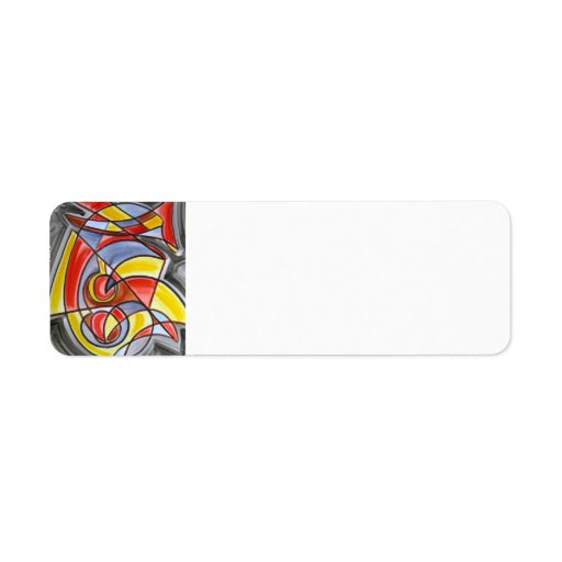 Brain Freeze - Abstract Art Return Address Labels