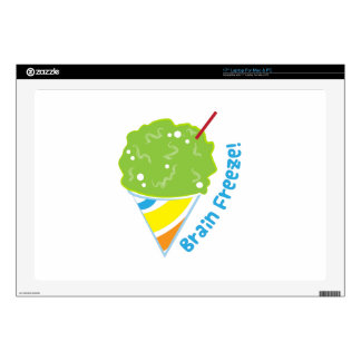 """Brain Freeze Decal For 17"""" Laptop"""