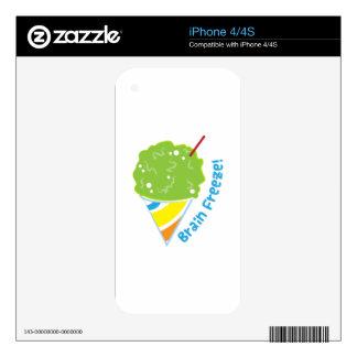 Brain Freeze iPhone 4S Decals