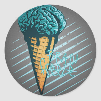 Brain Freeze Sticker