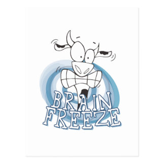 Brain Freeze with cow Postcard