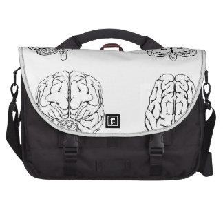 Brain from top side front and back laptop shoulder bag