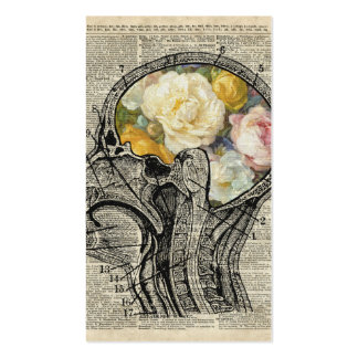 Brain Full Of Flowers,Nature Lover Dictionary Art Double-Sided Standard Business Cards (Pack Of 100)