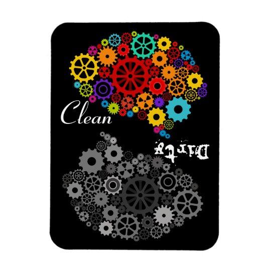 Brain Gears Clean-Dirty Flexible Magnet