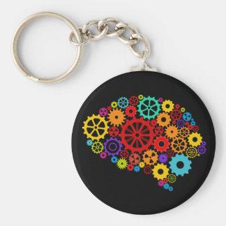 Brain Gears Keychain