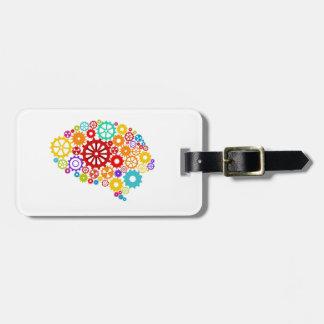 Brain Gears Luggage Tag
