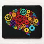 "Brain Gears Mousepad<br><div class=""desc"">Brain Gears Design,  showing mechanics is available for a variety of products. Text adding is optional.</div>"