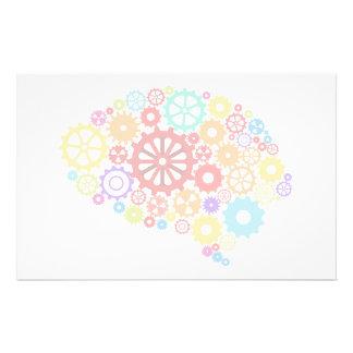 Brain Gears Stationery