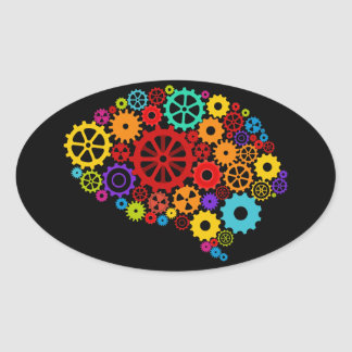 Brain Gears Sticker