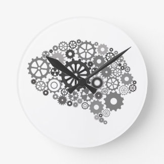 Brain Gears Wall Clock