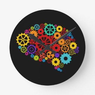 Brain Gears Wall Clock