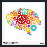 """Brain Gears Wall Decal<br><div class=""""desc"""">Brain Gears Design,  showing mechanics is available for a variety of products. Text adding is optional.</div>"""