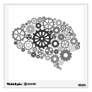 Brain Gears Wall Decal