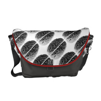Brain grid messenger bag
