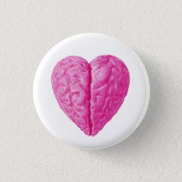 Brain Heart Pinback Button