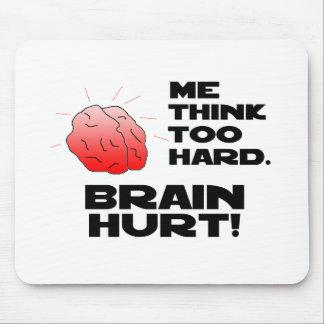 Brain Hurt Black Mouse Pad