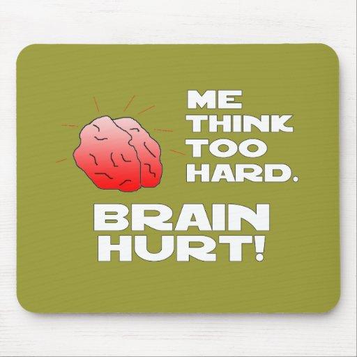 Brain Hurt Black White Mousepads