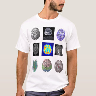 Brain Images white T T-Shirt