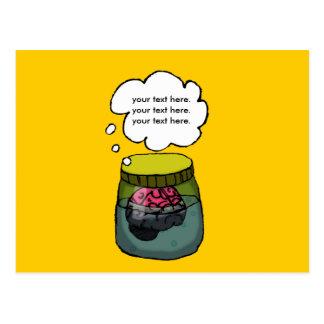Brain in a vat postcard