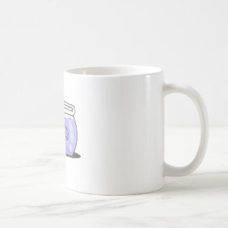 brain in fishbowl coffee mug