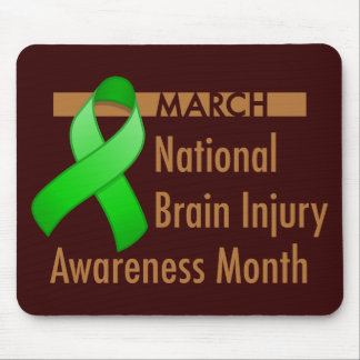 Brain Injury Awareness Month Dark Mousead Mouse Pad