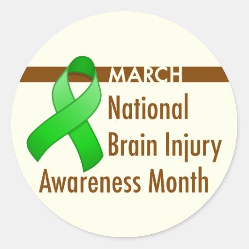 Brain Injury Awareness Month Round Sticker