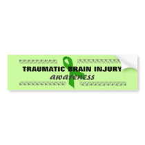 Brain Injury Green Ribbon Bumper Sticker