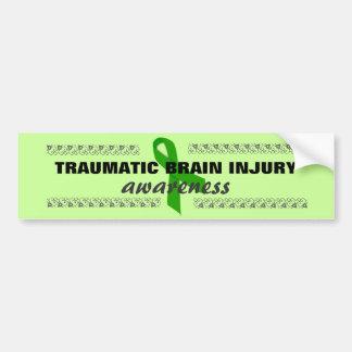 Brain Injury Green Ribbon Bumper Sticker Car Bumper Sticker