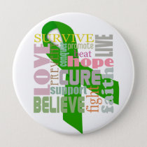 Brain Injury Green Ribbon Inspiring Pin / Button