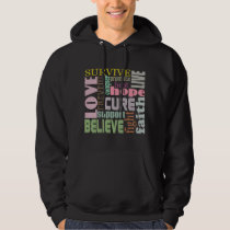 Brain Injury Inspirational Words Hoodie