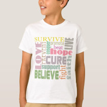 Brain Injury Inspirational Words Kids Shirt