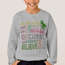 Brain Injury Inspirational Words Kids Sweatshirt