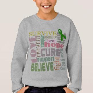 Brain Injury Inspirational Words Kids Sweatshirt
