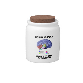 Brain Is Full Can't Think Anymore (Brain Anatomy) Candy Jar